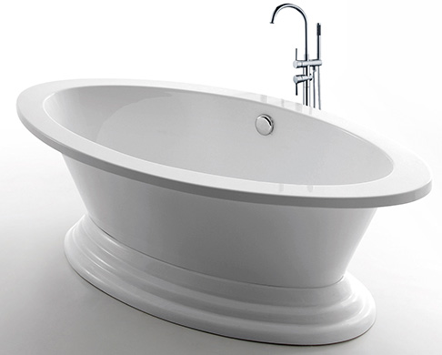 Bath tubs fillers golden vantage for Freestanding bath sizes